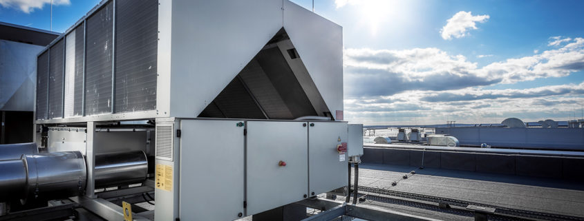 Rooftop with convenient HVAC placement.